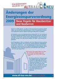 Änderungen der Energieeinsparverordnung 2009 - Gemeinde Senden