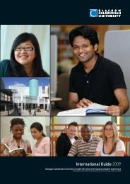 CALEDONIAN BUSINESS SCHOOL - Glasgow Caledonian University