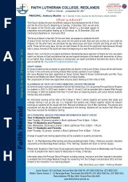 November 28 2012 text only - Faith Lutheran College