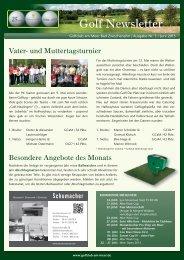 Newsletter Juni 2013 - Golfclub am Meer