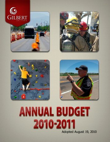 instructions for navigating in annual budget pdf files - Town of Gilbert