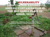 vulnerability of population exposed to arsenic contamination in the ...
