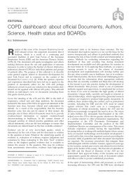 COPD dashboard: about official Documents, Authors, Science ...