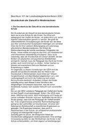Beschluss 101 der Landesdelegiertenkonferenz 2003 Grundschule ...