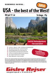 USA - the best of the West! - Gislev Rejser