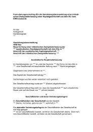 Anmeldung Zweigniederlassung