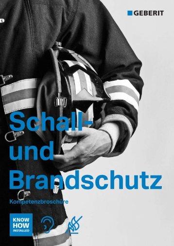 Kompetenzbroschüre Brand- und Schallschutz - Geberit