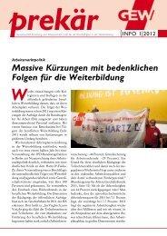prekär Info 01/2012 - GEW