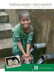 Hoffnung schenken – Leben verändern! - Geschenke der Hoffnung