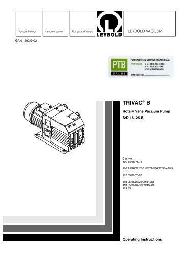 busch vacuum pump manual pdf