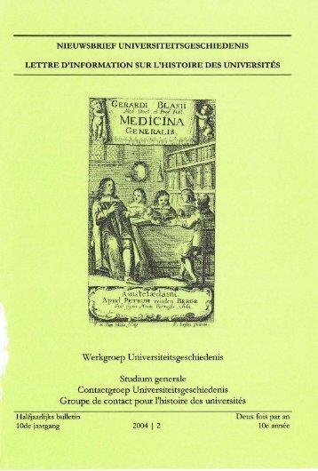Jaargang / Année 10, 2004, nr. 2 - Gewina