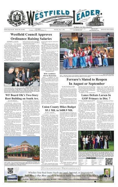 12jun07 Newspaper The Westfield Leader