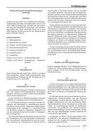 Studienordnung - Fachbereich Geschichts