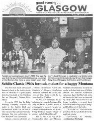 Schlitz Classic 1960s formula makes for a ... - Glasgow Montana