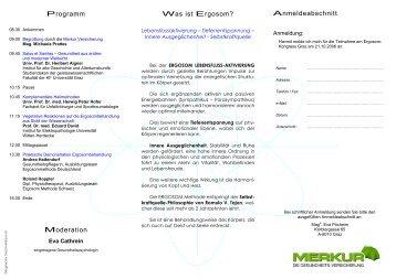 Anmeldeabschnitt Programm Was ist Ergosom ... - Global Balance