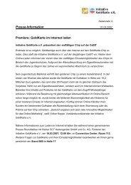 Presse-Information Premiere: GeldKarte im Internet laden