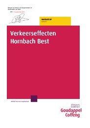 Goudappel Coffeng, Verkeerseffecten Hornbach ... - Gemeente Best