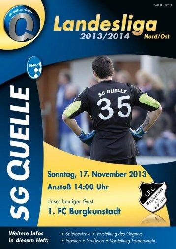 Stadionheft zum Spiel gegen den 1. FC Burgkunstadt