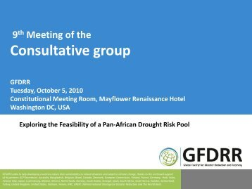 Exploring the Feasibility of a Pan African Drought Pool ... - GFDRR