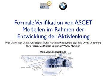 formale verifikation von ascet modellen im  - bmw car it gmbh