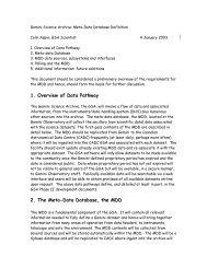 MDDB Definitions Document (PDF) - Gemini Observatory