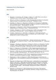 Publikationen Prof. Dr. Erwin Bergmeier Stand 18.09.2009 2009 ...