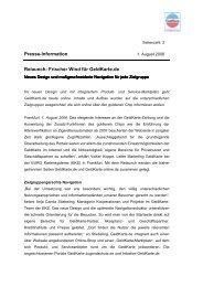 Presse-Information Relaunch: Frischer Wind für GeldKarte.de
