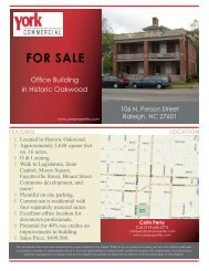 FOR SALE - Downtown Raleigh Alliance