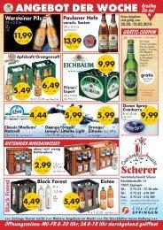 ANGEBOT DER WOCHE Greifen Sie zu! - Getränkefachmarkt Scherer