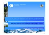 INWAMA 6 Decision Support and MCA