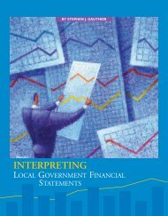 Interpreting Local Government Financial Statements