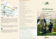 Waldklänge - EUROPoint Ostalb