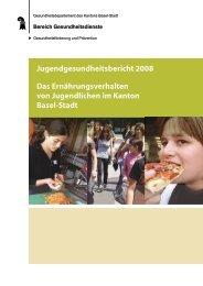 Jugendgesundheitsbericht 2008 - Gesundheitsförderung Schweiz