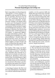 Dr. Gerhard Engel Warum Kopenhagen ein Erfolg war