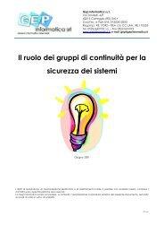 I gruppi di continuità - GEP Informatica Srl