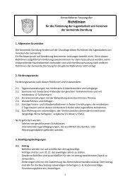 1. Änderungssatzung der - Gemeinde Dornburg