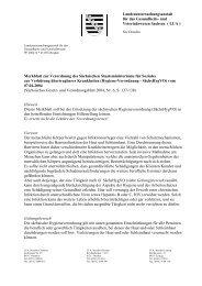 Landesuntersuchungsanstalt - Gesunde Sachsen - Freistaat Sachsen