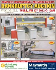 BANKRUPTCY AUCTION Y AUCTION - GoIndustry DoveBid
