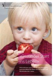 «Gesunder Start ins Leben» - Gesundheit.bs.ch - Kanton Basel-Stadt