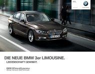 DIE NEUE BMW er LIMOUSINE. - BMW Niederlassung Stuttgart