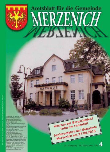 Nr. 04/2013, erschienen am 28.03.2013 - Gemeinde Merzenich