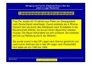Befragung von Frau Fw. (Displaced Person) - Die Geschichte ...