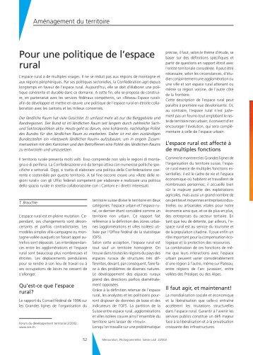 Pour une politique de l'espace rural