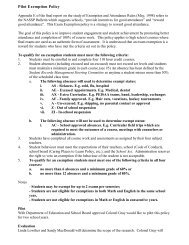 Pilot Exemption Policy