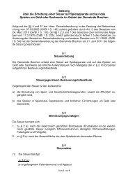 Spielapparatesteuersatzung - Gemeinde Brechen
