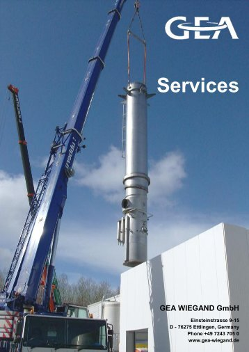 Services - GEA Wiegand