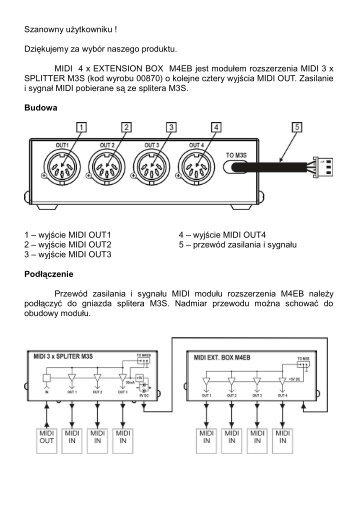 Instrukcja obsługi MIDI 4 x EXTENSION BOX M4EB - G LAB