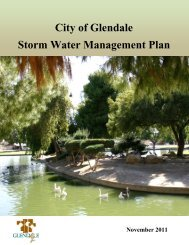 City of Glendale Storm Water Management Plan