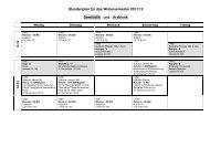 Stundenplan WiSe 2011-12