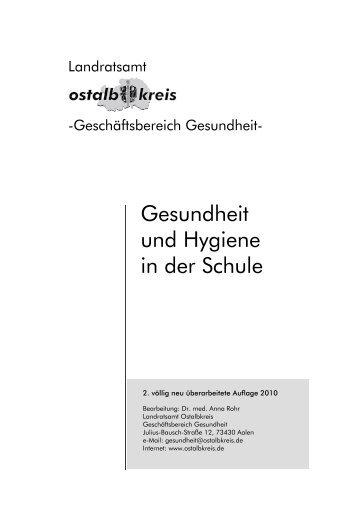 Gesundheit und Hygiene in der Schule (Stand ... - Ostalbkreis